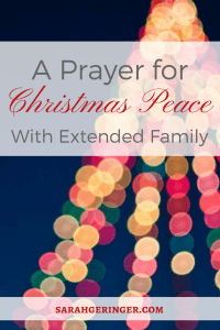 Need family peace this Christmas? This prayer can help.