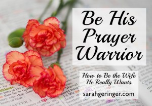 Do you know youare likely your husband's #1 prayer warrior?  Your prayers for him can be more specific than anyone else's. #marriage