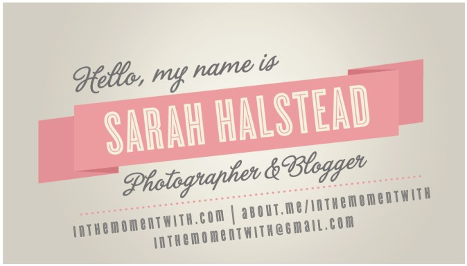 Business cards from minted for blissdom in the moment with business cards colourmoves