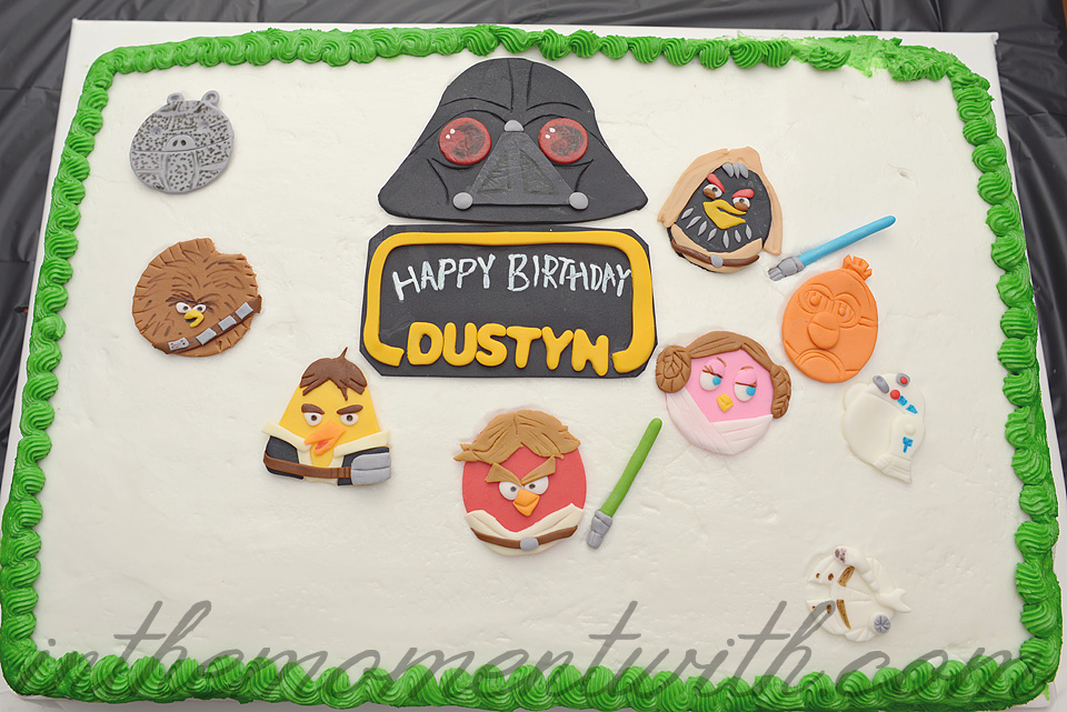 Angry Birds Star Wars Birthday Party Cake Toppers