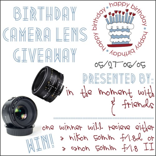 50mm Camera Lens Giveaway