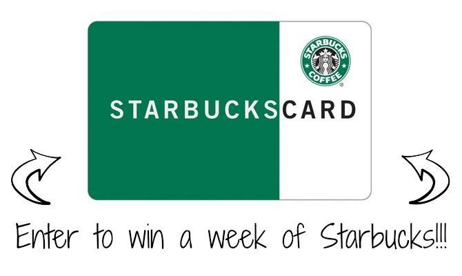 Starbucks Card Giveaway