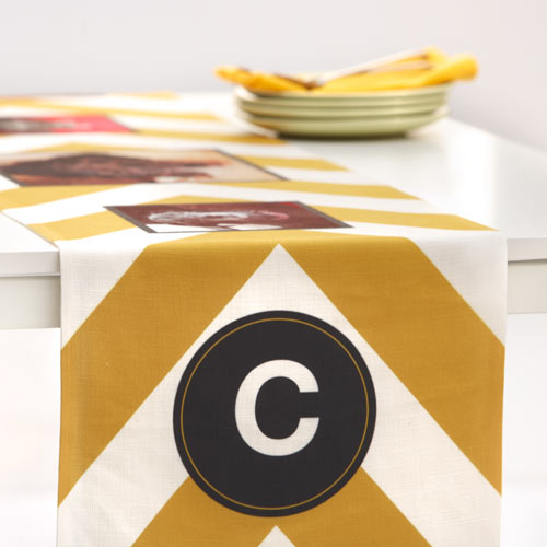 So You Want to Redecorate: Shutterfly Chevron Monogram Table Runner Home Decor