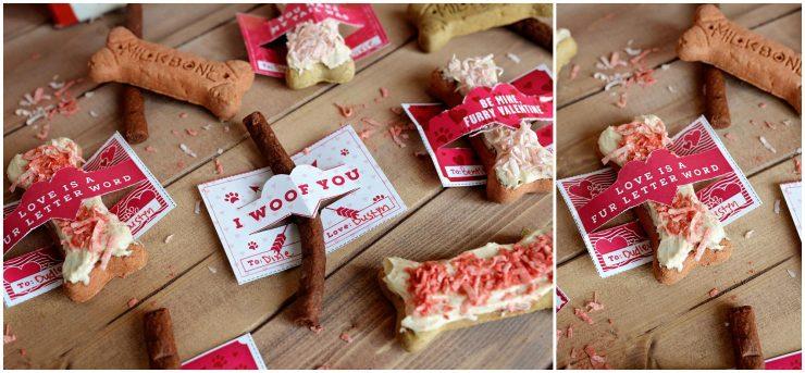Dog Valentines | Yogurt Peanut Butter Milk-Bone Treat | #ad #TreatThePups #CollectiveBias