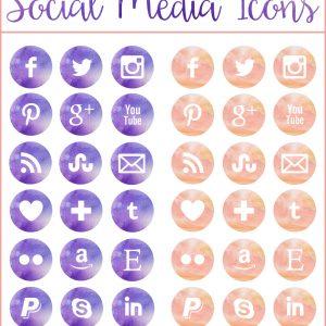 38-Free-Watercolor-Social-Media-Icons