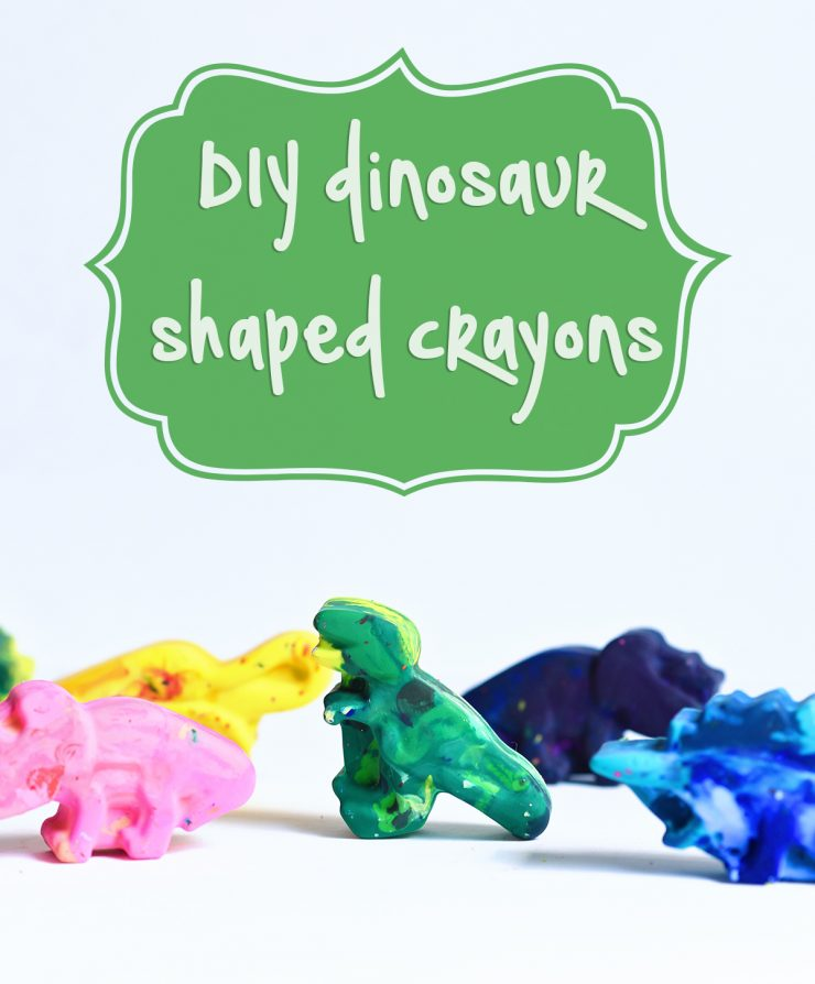 DIY Shaped Crayons | Dinosaur Crayons