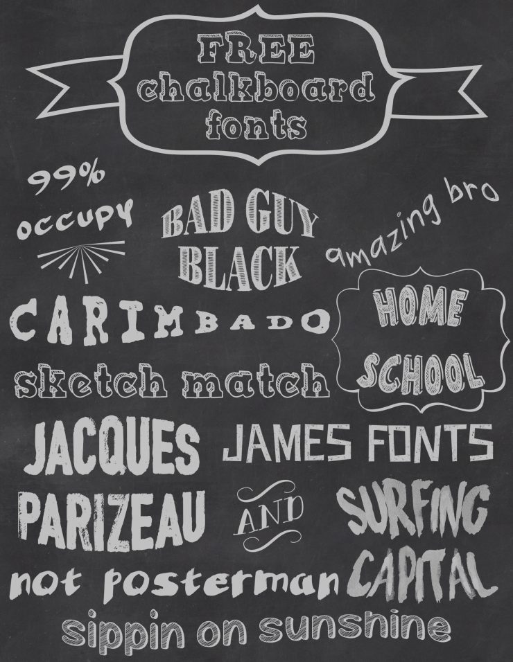 Free Chalkboard Fonts