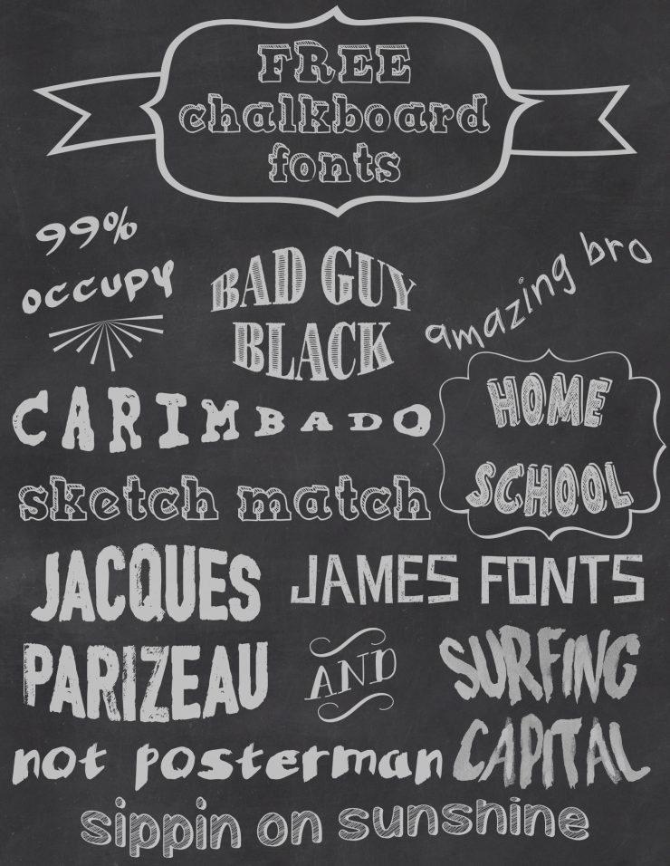 Free chalkboard fonts sarah halstead for Chalkboard sign font