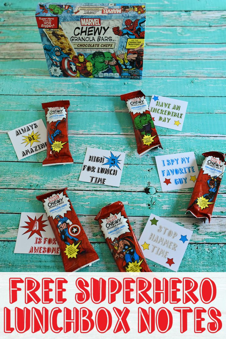 Free Superhero Lunchbox Notes | #ad #MARVELSnackBar #CollectiveBias