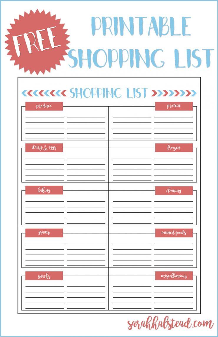 free-shopping-list-printable