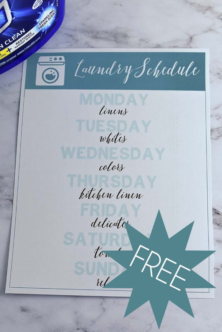 Free Laundry Schedule