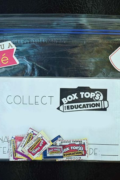 Box Tops Collection Bag