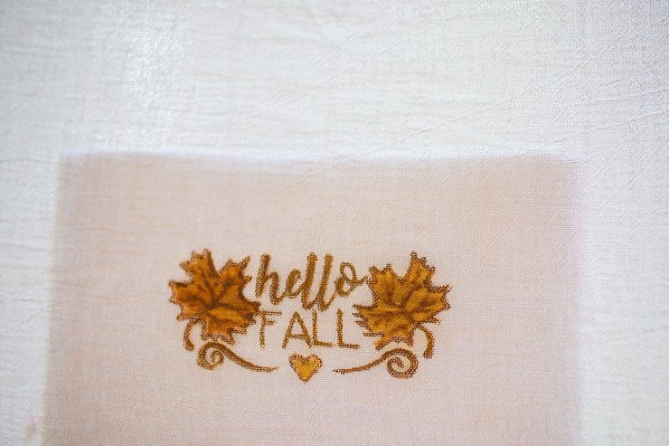 DIY Fall Themed Kitchen Towels