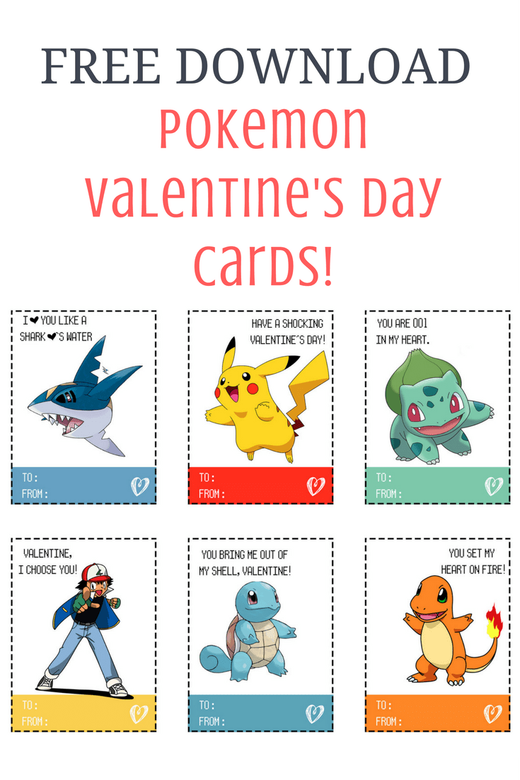 Pokemon Valentineu0027s Day Cards