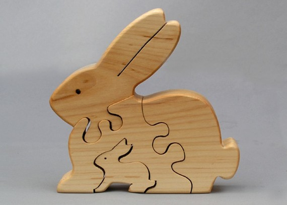 Wooden Bunny Puzzle from Arks and Animals
