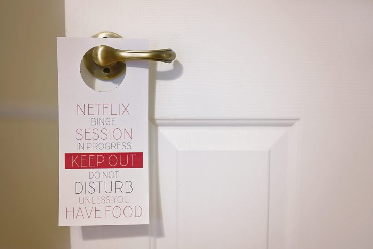 netflix binge session do not disturb sign sarah halstead