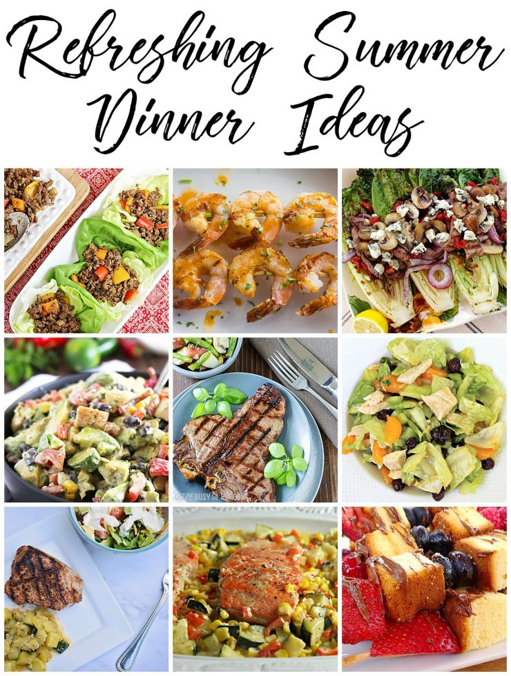 refreshing summer dinner ideas sarah halstead