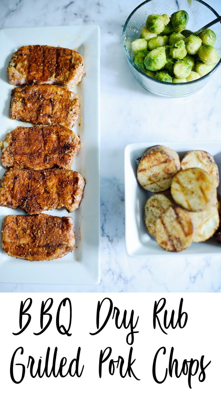 BBQ Dry Rub Grilled Pork Chops