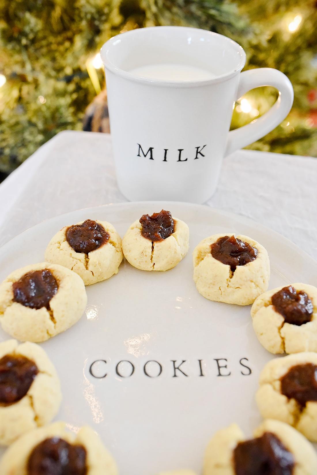 Holiday Thumbprint Cookies