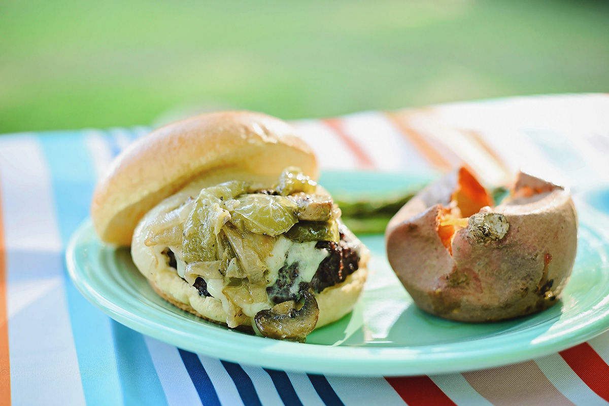 Philly-Style Cheesesteak Burger