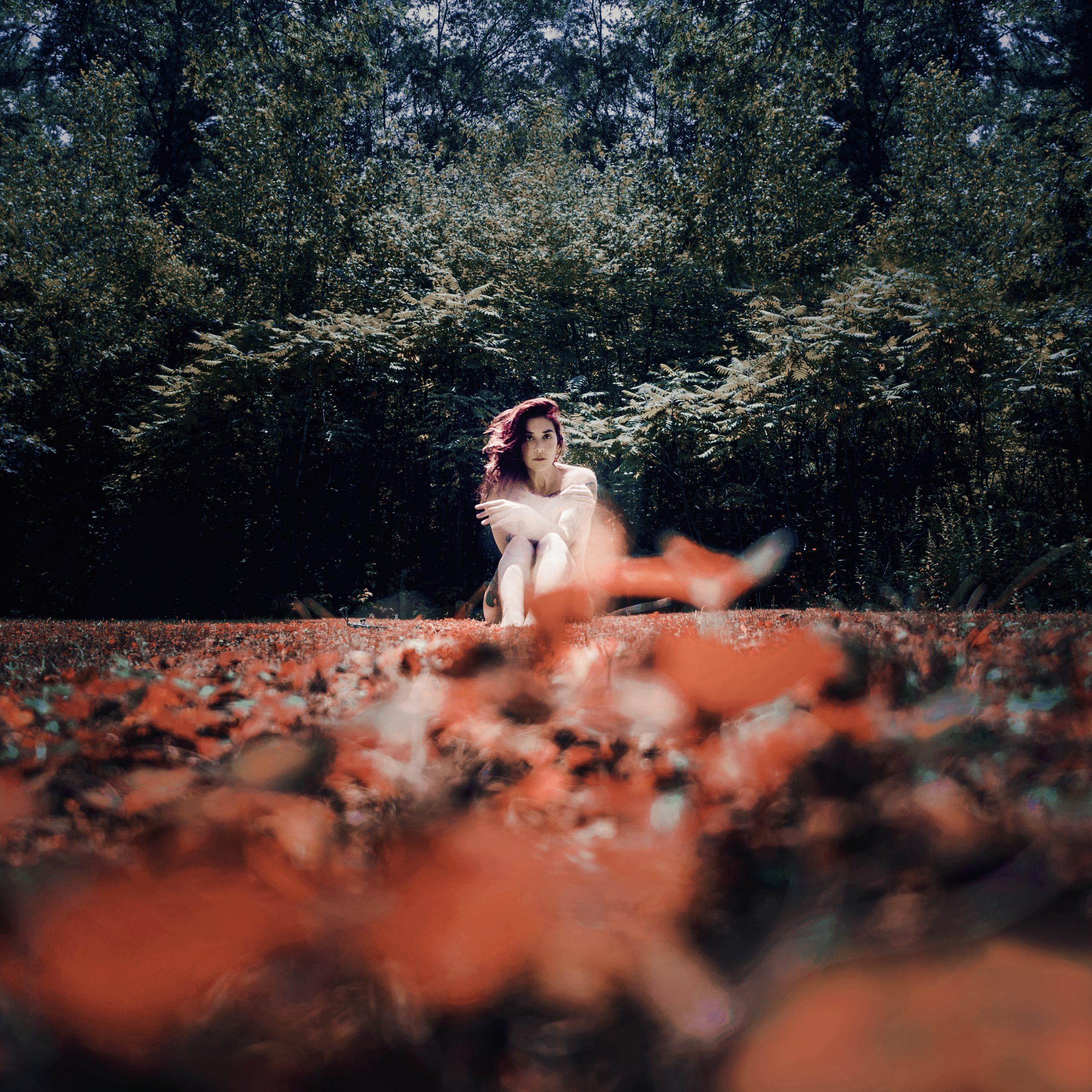 nude girl in grass