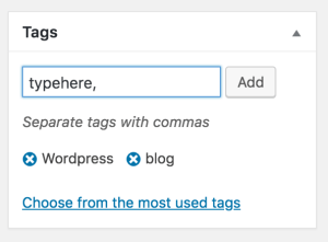Adding tags to your blog post