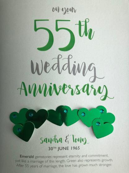 Emerald Anniversary card