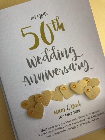 Golden (50th) Anniversary Card