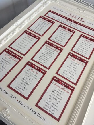 Framed table plan