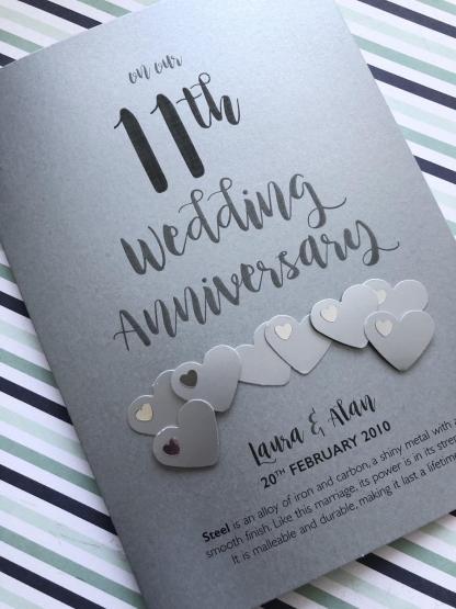 Steel (11th) Anniversary card