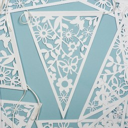 laser cut bunting available in white or ivory