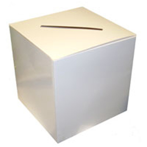 available plain or personalised - cube postbox