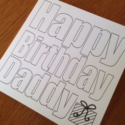 colour in birthday card