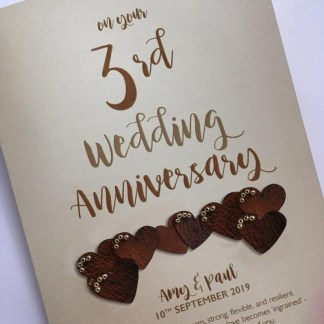 Personalised 'leather' anniversary card