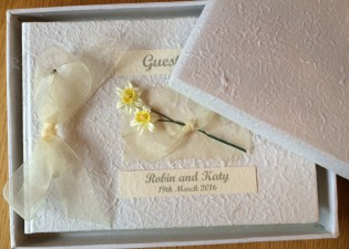 Springtime guest book in box