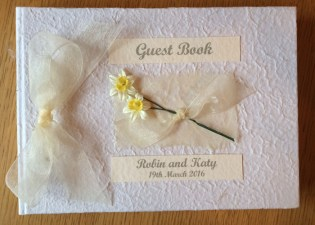 Springtime guest book