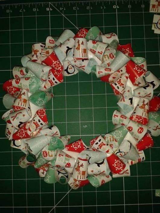 christmas wreath paper chain