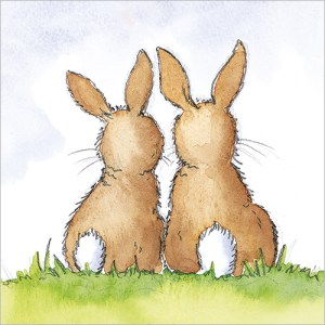 Two Bunnies Card