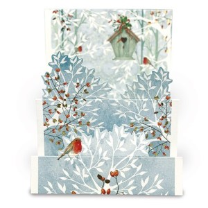 Snowy Tree Card Design