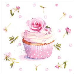 Rose Cupcake Card Design