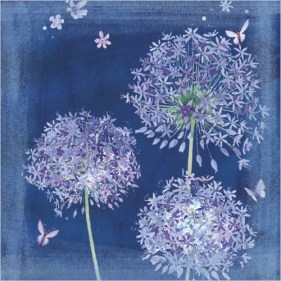 Blue Alliums Card Image