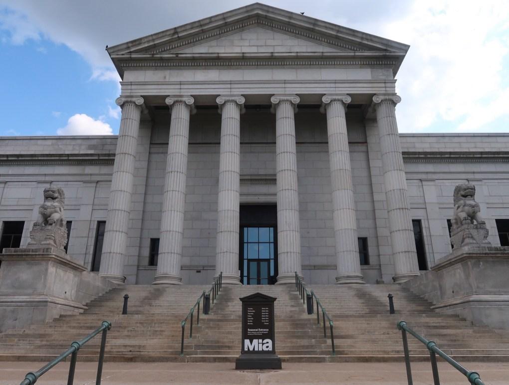 front of Minneapolis Institute of Art