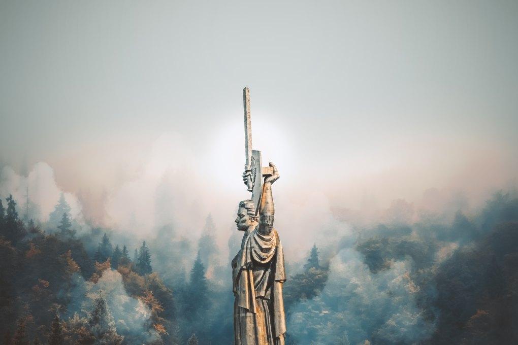 Monument in Ukraine - Motherland