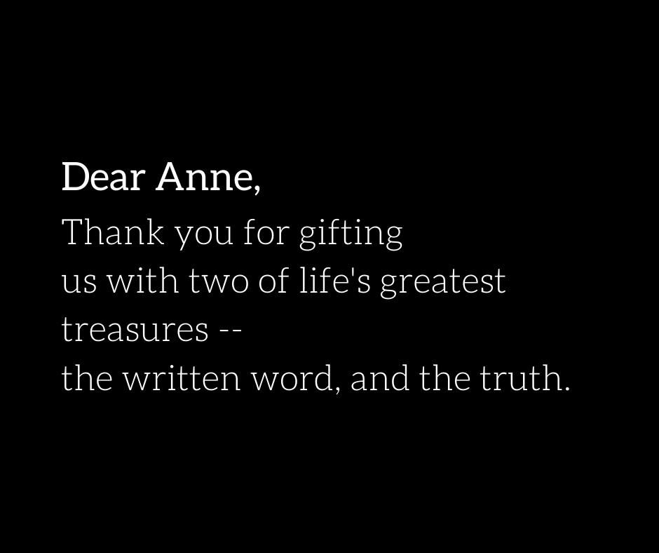 Anne Frank House in Amsterdam: message in guest book