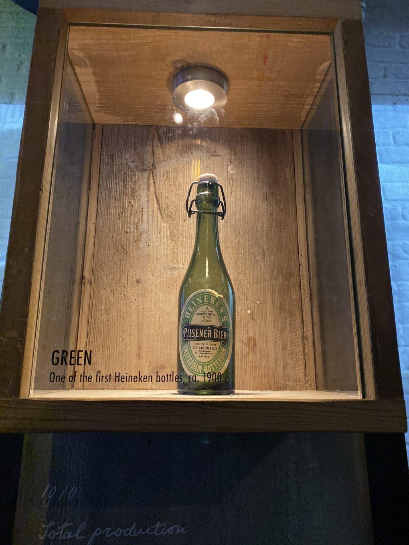 Heineken Experience Amsterdam: 1900s Heineken bottle