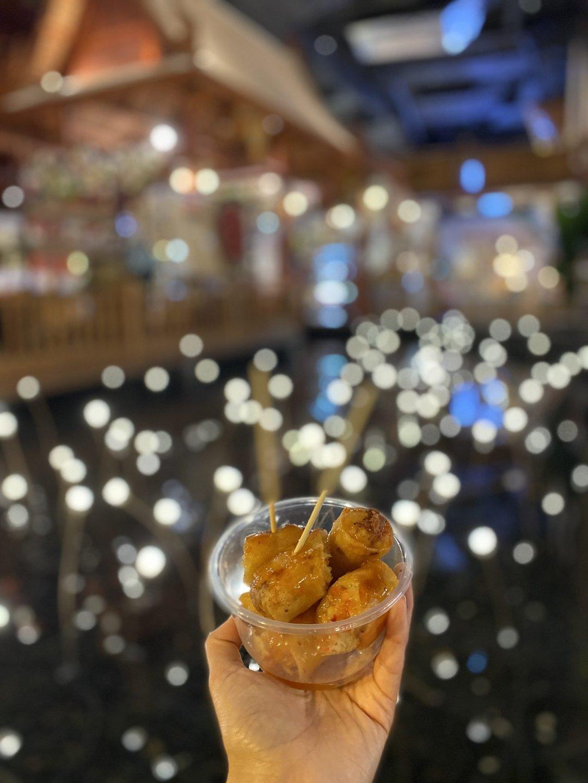Fried spring rolls from ICONSIAM night market, Bangkok, Thailand