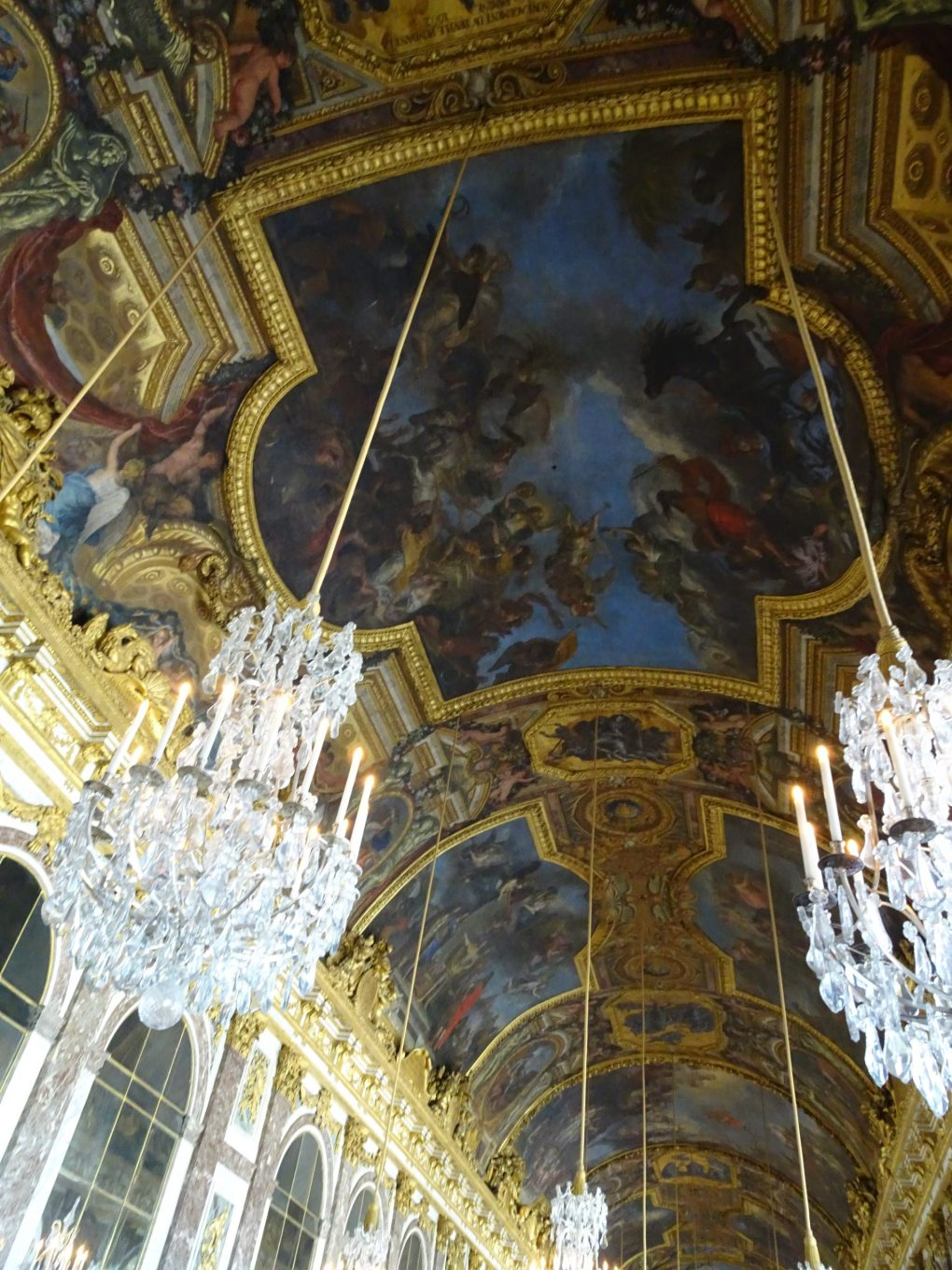 Ceiling paintings at Palace of Versailles, France