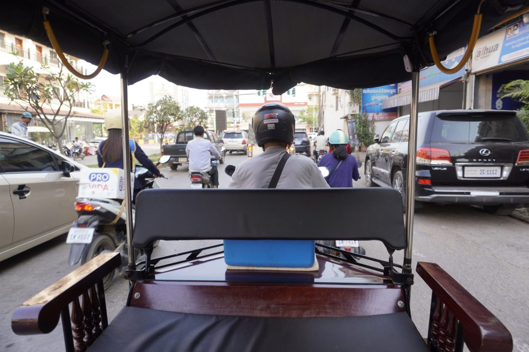 Tuk tuk on the streets of Siem Reap, Cambodia