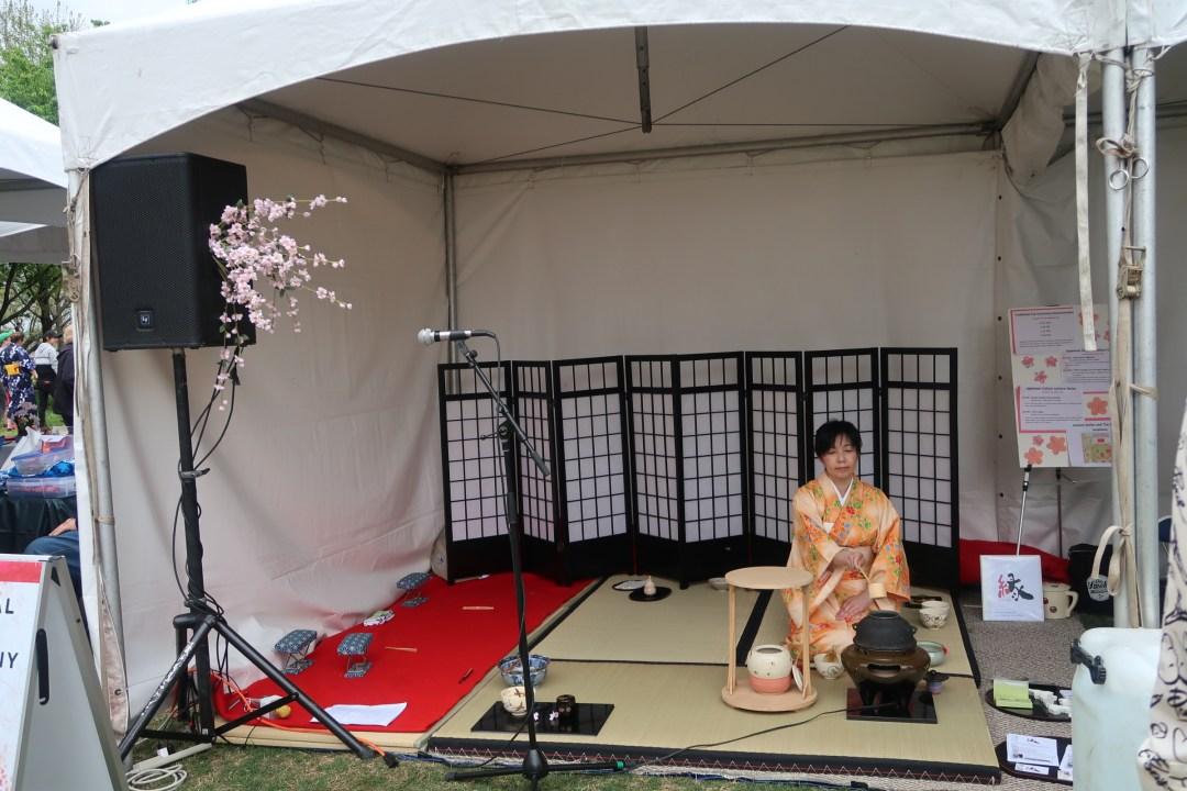 Traditional Japanese tea ceremony demonstration at the Nashville Cherry Blossom Festival 2019