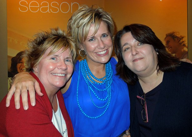 With my sweet, supportive friends Tena and Sheryl after the show.